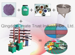 Hot Sale Environmental Rubber Tile Production Line/Rubber Tile Moulding Machine pictures & photos