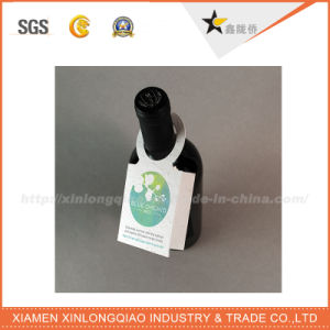 Custom Head Card for Wine Bottle Neck with Logo Printing pictures & photos