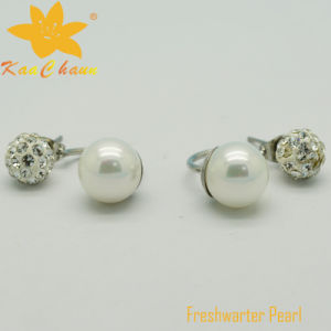 Fper-005 Fashion White Color Freshwater Pearl Clip Earrings pictures & photos