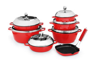 Tk1510 Casting Aluminum Pots and Pans Cookware Set pictures & photos