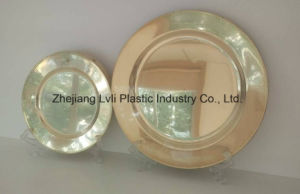 Plastic Plate, Disposable, Tableware, Tray, Dish, PS, SGS, Golden, PA-03