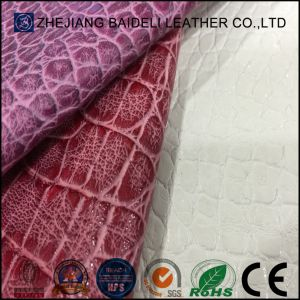 High Quality Synthetic Leather with Crocodile/Snake Pattern for Shoe pictures & photos