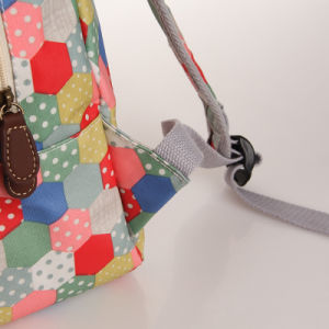 Colorful Dots Patterns PVC Canvas Backpack Bag (23243) pictures & photos