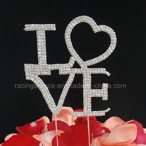 Rhinestone Love Wedding Cake Topper pictures & photos