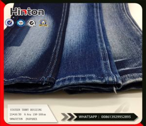 Sateen Terry Cotton Spandex Denim Fabric9.6oz pictures & photos