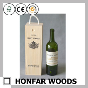 Customize Logo Wooden Wine Box Gift Box for Chateau pictures & photos