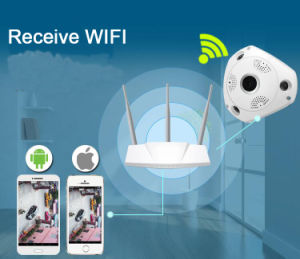 CCTV IR Night Vision 360 Degrees Fisheye Security Surveillance  HD 3MP IP WiFi Wireless Camera with 128g Recording 3D Vr Image