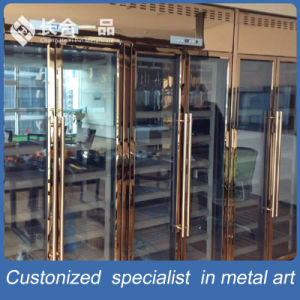 Customized Luxury Antique Stainless Steel Wine Cellar Cabinet for Restaurant/Club pictures & photos