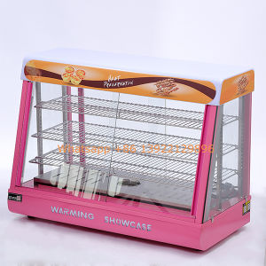 New Good Quality Food Warming Display Showcase on Sale /Hot Food Warmer Showcase for Biscuit pictures & photos