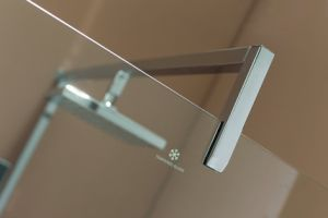 Chromed Al Profile Walk in Shower Screen with Shower Tray pictures & photos