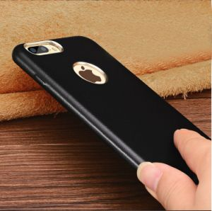Leather Black Mobile Phone Case for iPhone 7/7plus pictures & photos