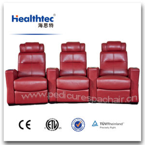 Multi-Functional Electronic Reclining Theatre Chair Cinema Chair with Headrest and Cup Holder (T016-A) pictures & photos