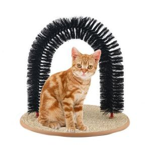 Purrfect Arch Self-Groomer and Massager Kitty Cat Perch Scratcher Pet Furniture Post Tree Toy Scratching Catnip Kitten Cat Self Brooming and Massaging pictures & photos