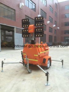 340 Degrees Mast Rotation Emergency Waterproof LED Mobile Light Tower pictures & photos