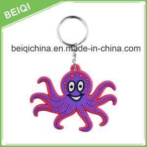 Wholesale Sublimation Plastic 3D PVC Keychain pictures & photos