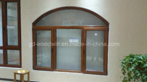 Luxury Solid Wood Frame Glass Window/Wood Window/Larch Wood Window pictures & photos