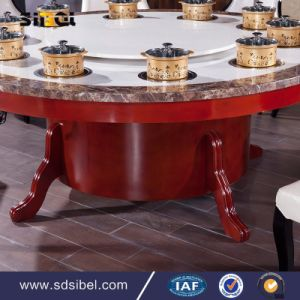 Round Luxury 8 Seat Chairs Set Newest Fashion 3D Elegant Dining Table Sets pictures & photos