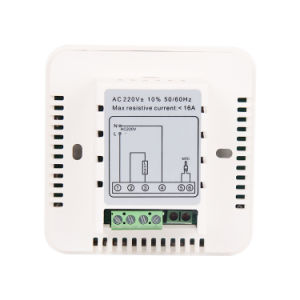 Touchable Programmble Digital Room Temperature Controller for Heating 9c pictures & photos