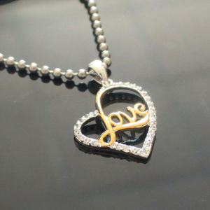 Heart Pendant Necklace Luxurious Jewelry Women Zircon Heart Necklaces Collier pictures & photos