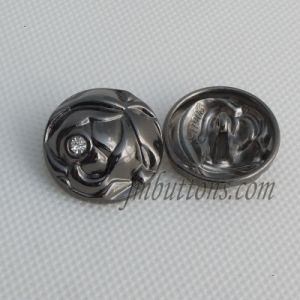 Gun Black Alloy Rhinestone Button for Overcoat pictures & photos
