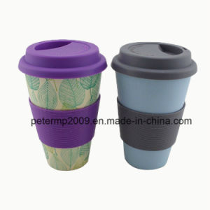 Customized Eco-Friendly Bamboo Fiber Coffee Mug Travel Mug with Silicone Lid and Sleeves pictures & photos