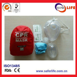 One Way Valve Face Shield Earloop First Aid Breath Barrier USA FDA Ce ISO Disposable CPR Mask Combo pictures & photos