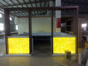 Modern Translucent Sheet Marble LED Bar Counter Artificial Stone Bar Table pictures & photos