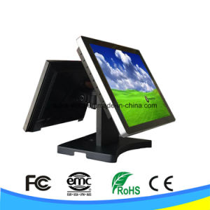 Dual Screen 15 Inch Touch Screen POS Terminal System pictures & photos