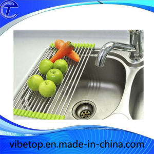 Fashion Stainless Steel Roll Draining Rack Kitchen Shelves pictures & photos