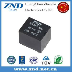 3FF (T73) 20A 12V Power Relay Miniature Electromagnetic Relay 5pins pictures & photos