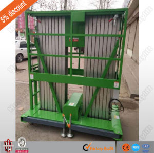 Double Mast Aluminum Alloy Lift/Aerial Work Platform pictures & photos