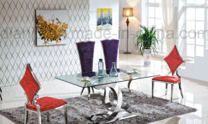 Silvery Special Design Modern Dining Table (A6085) pictures & photos