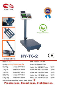 Electronic Balance Weighing Counting Platform Scale with Foldable Pole pictures & photos