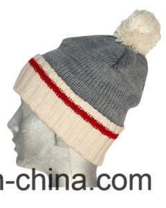 Winter Hat Acrylic Jacquard Beanie Hat Custom Knit Hat POM POM Beanie Hat pictures & photos