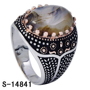 Fashion Jewelry Men Ring New Model 925 Silver CZ Ring. pictures & photos