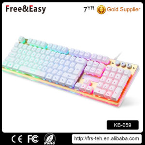 Wired Backlit USB Gaming Mechanical Keyboard pictures & photos