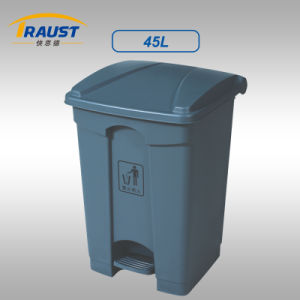 45L Plastic Garbage Can with Pedal pictures & photos