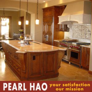 High End Solid Wood Finish Kitchen Cabinet pictures & photos