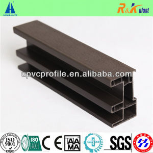 Woodgrain UPVC Co Extruded Profile for Sliding Window Frame pictures & photos
