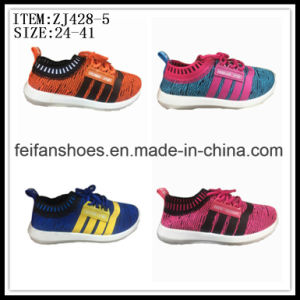 Newest Children Injection Canvas Shoes Sport Shoes Factory (ZJ428-5) pictures & photos