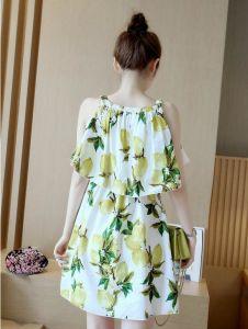 Summer Sleeveless Fresh Lemon Lovely Girl′s Dress pictures & photos
