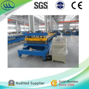 Ral 5002 Sky Blue Glazed Steel Tile Metal Roll Forming Machine pictures & photos