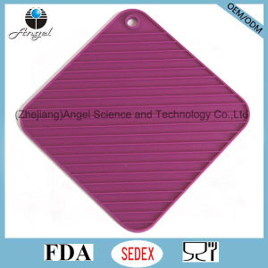 Wholesale Square Silicone Coaster with FDA Approval Sm41