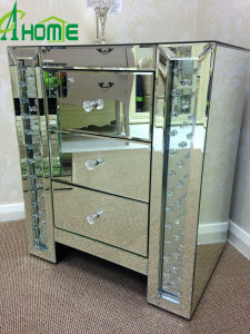 Bedroom Furniture Three Drawers Crystal Mirror Table pictures & photos