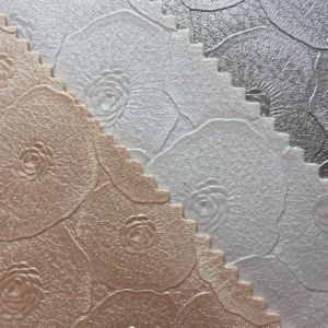 Synthetic Floral Design PVC Leather for Wall Upholstery pictures & photos