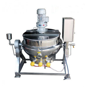 Sanitary Gas LPG LNG Heating Jacketed Kettle for Food Chemistry pictures & photos