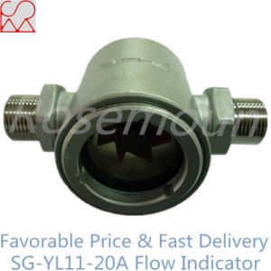 Double Window Sight Glass Impeller Water Flow Indicator pictures & photos