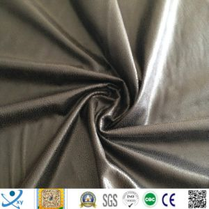 Three Layers Lamination Embossed Bronzing Suede for Sofa Fabric (Three-layers laminated) for Europe Markets pictures & photos
