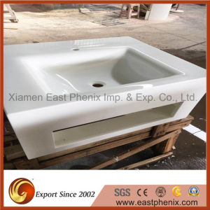 Pure White Polished Crystalized Nano Glass Stone for Vanity Top pictures & photos