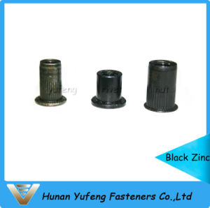 Black Zinc Rivet Nut Round/Knurled Body pictures & photos